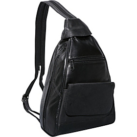 Leather Mini Backpack Black