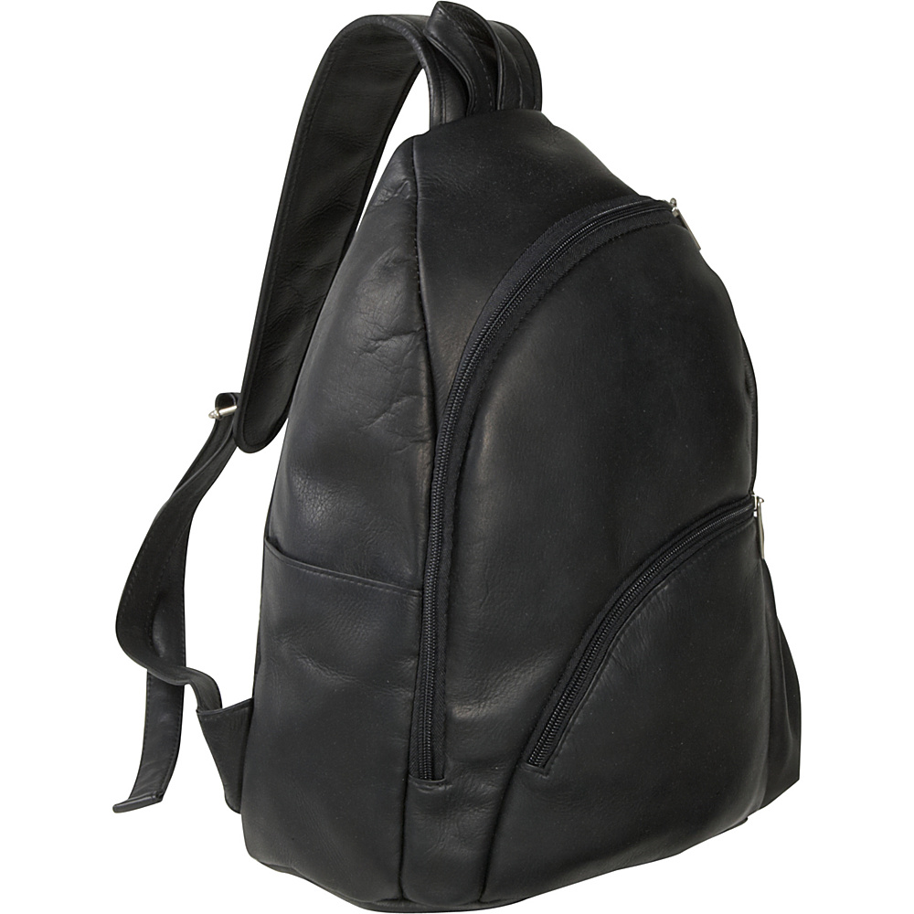 Le Donne Leather Unisex Sling Pack - Black - Handbags, Manmade Handbags