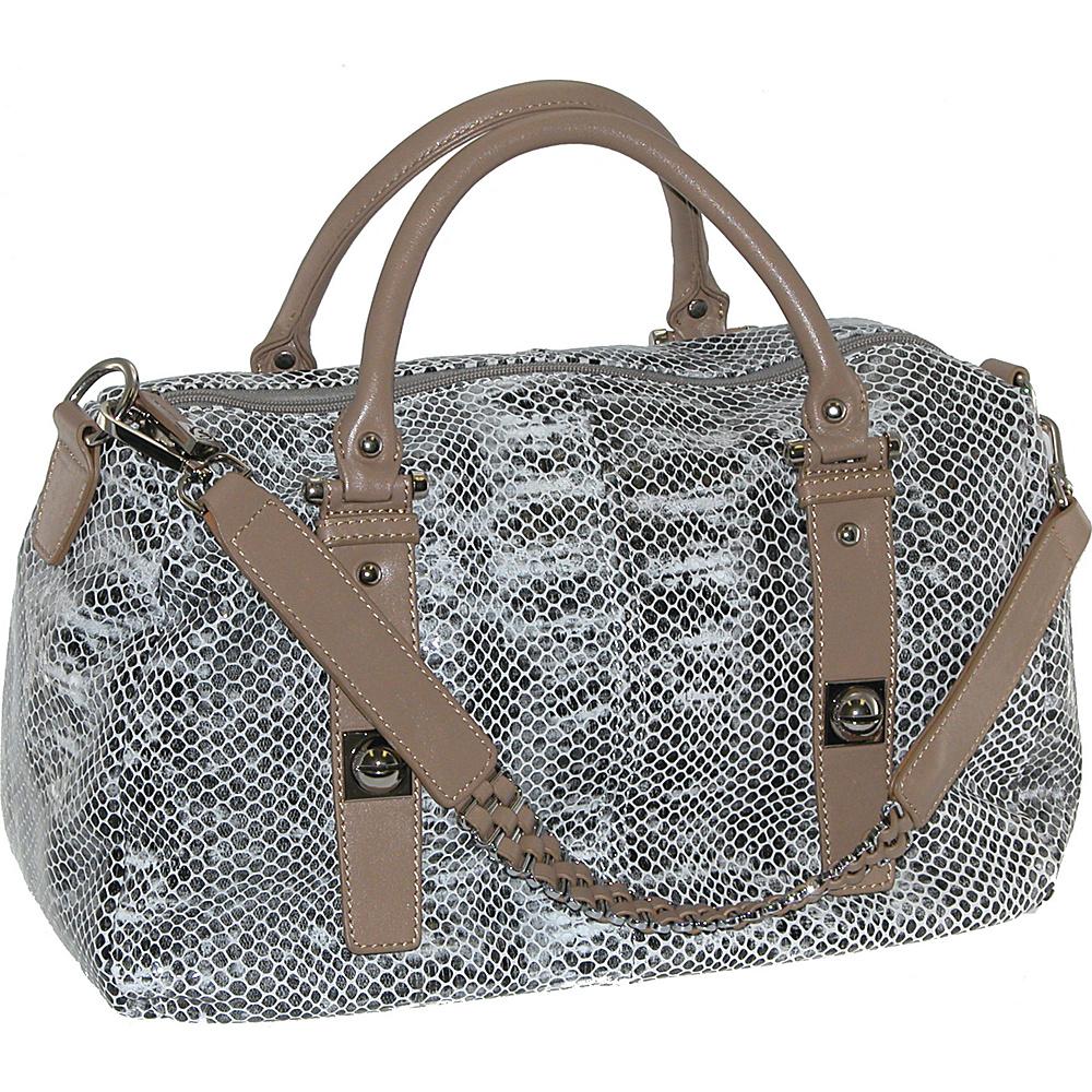 Buxton Sophie Leather Doctor Satchel Black - Buxton Leather Handbags
