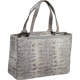 Tilda Large Tote- Embossed Lizard Slate