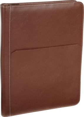 AmeriLeather Leather Writing Portfolio Cover Brown - AmeriLeather Business Accessories