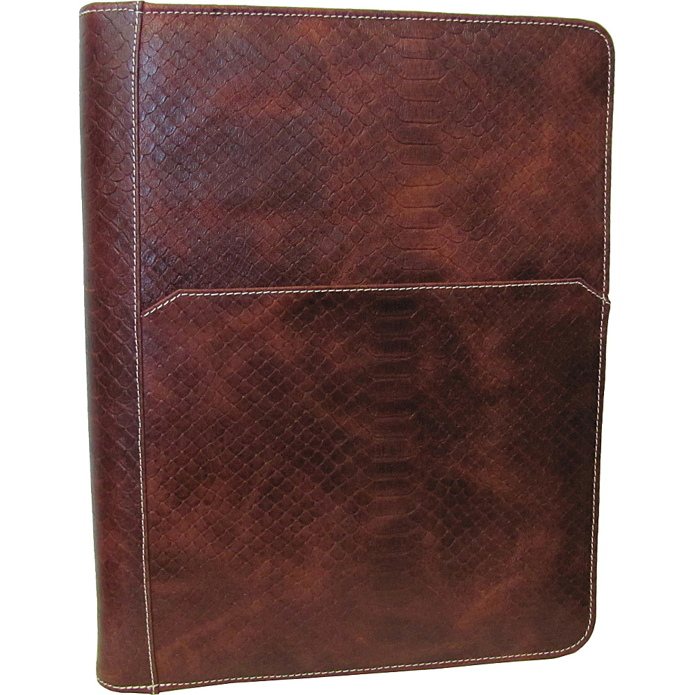 AmeriLeather Leather Writing Portfolio Cover Brown Lizard - AmeriLeather Business Accessories - Work Bags & Briefcases, Business Accessories