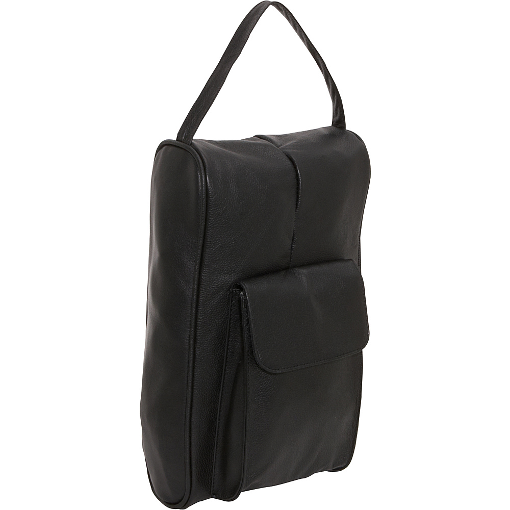 Amerileather Black Leather Golf Shoe Bag - 725-0