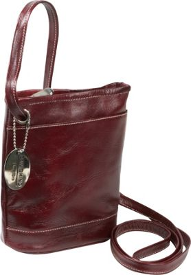 David King & Co. David King & Co. Florentine Top Zip Mini Bag Cherry - David King & Co. Leather Handbags