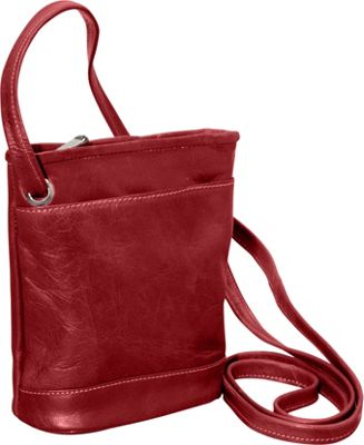 David King & Co. Florentine Top Zip Mini Bag Red - David King & Co. Leather Handbags