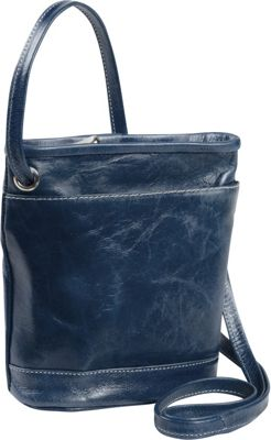 David King & Co. Florentine Top Zip Mini Bag Blue - David King & Co. Leather Handbags