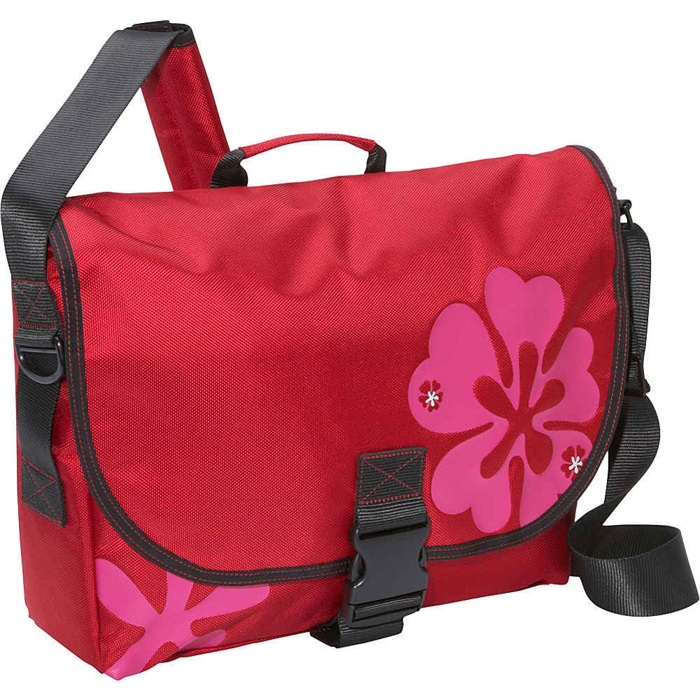Laurex Laptop Messenger Bag Small Red Clover Laurex Messenger Bags