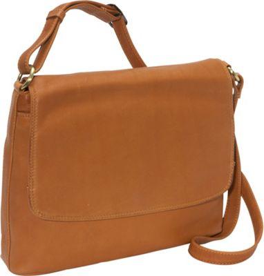 Derek Alexander Classic Half Flap Cognac - Derek Alexander Leather Handbags