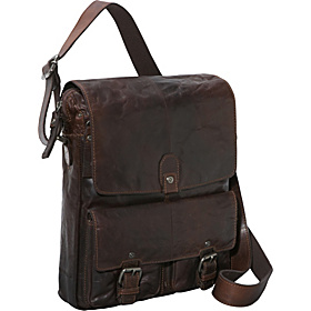 Spikes & Sparrow Collection North/South Messenger Bag Brown