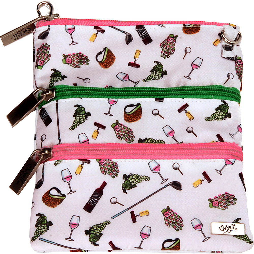 Glove It Women's 3 Zip Bag (Nine and Wine)
