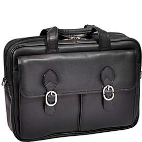 Hyde Park Double Compartment 15'' Laptop Case Black