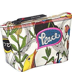 Artist Circle Cosmetic White Peace Print Nylon