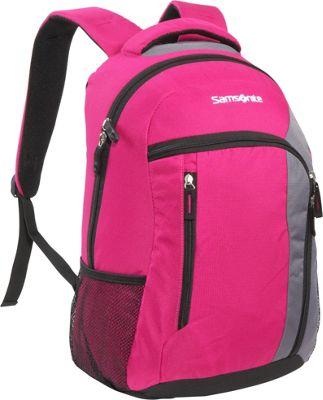 Samsonite Warwick Backpack Deep Pink Samsonite Laptop Backpacks