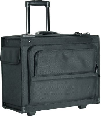 Netpack 18 inch Rolling Laptop Catalog Case Black - Netpack Wheeled Business Cases