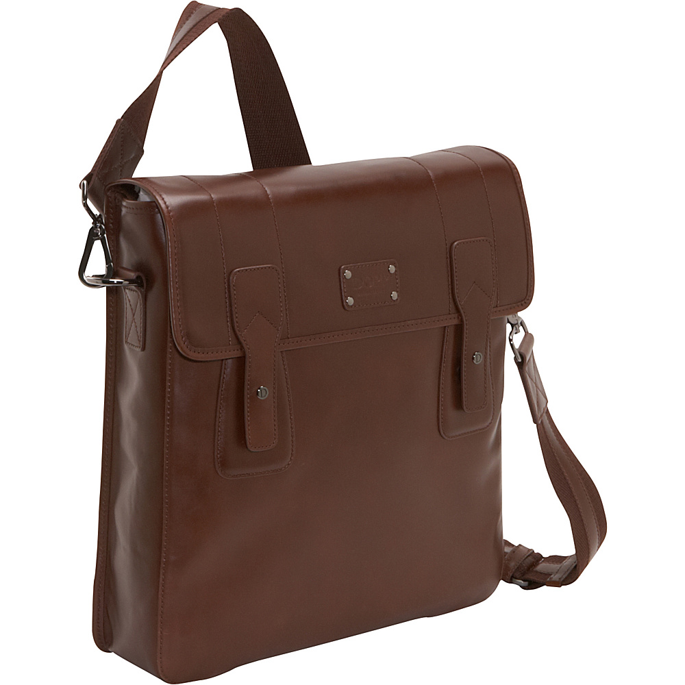 Dopp Gear Leather Urban Messenger Brown - Dopp Messenger Bags