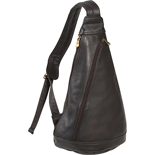 Le Donne Leather Women's Sling Pack CafA A - Le Donne Leather Leather Handbags