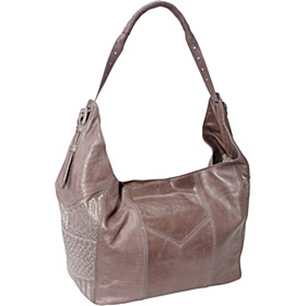 Hammered Metals Adrianna Hobo Charcoal