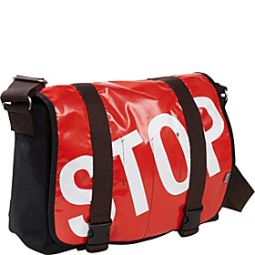 Stop Laptop Messenger Red