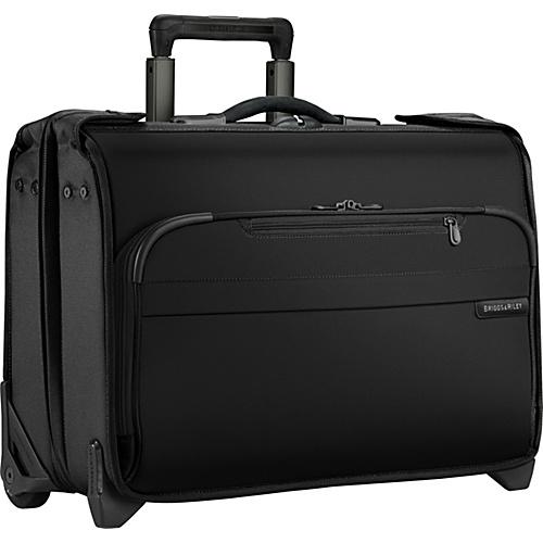 Briggs & Riley Baseline Carry-On Wheeled Garment Bag Black - Briggs & Riley Small Rolling Luggage