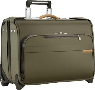 Briggs & Riley Briggs & Riley Baseline Carry-On Wheeled Garment Bag Olive - Briggs & Riley Garment Bags