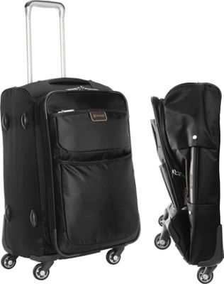 "Image of biaggi Contempo Foldable 22"" Expandable Spinner Carryon Black - biaggi Small Rolling Luggage"