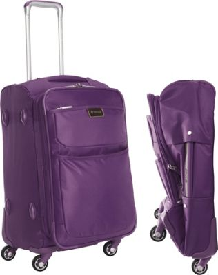 "Image of biaggi Contempo Foldable 22"" Expandable Spinner Carryon Purple - biaggi Small Rolling Luggage"