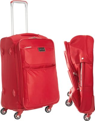 "Image of biaggi Contempo Foldable 22"" Expandable Spinner Carryon Red - biaggi Small Rolling Luggage"