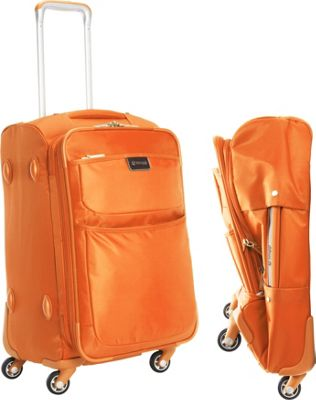 "Image of biaggi Contempo Foldable 22"" Expandable Spinner Carryon Orange - biaggi Small Rolling Luggage"