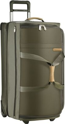 Briggs & Riley Baseline Large Upright Duffle Olive - Briggs & Riley Softside Checked