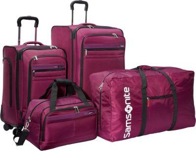 Samsonite Mobility 4 Piece Spinner Set Rose Samsonite Luggage Sets