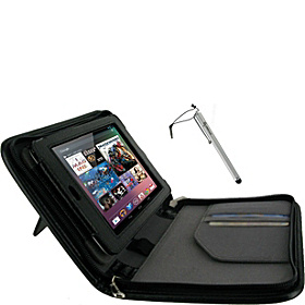 2n1 Executive Leather Case w/ Stylus for Google Nexus 7 Black