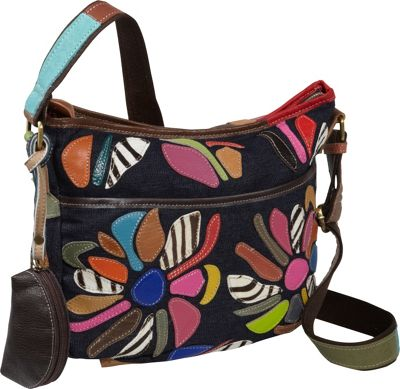 AmeriLeather Tansy Mini Cross Body Carrier Rainbow - AmeriLeather Leather Handbags
