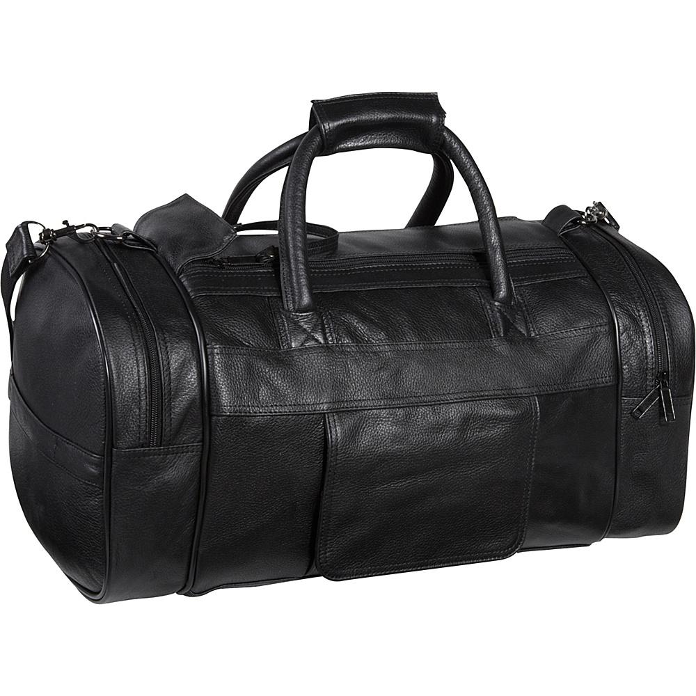 AmeriLeather Leather Dual Zippered Duffel Black - AmeriLeather Travel Duffels - Duffels, Travel Duffels
