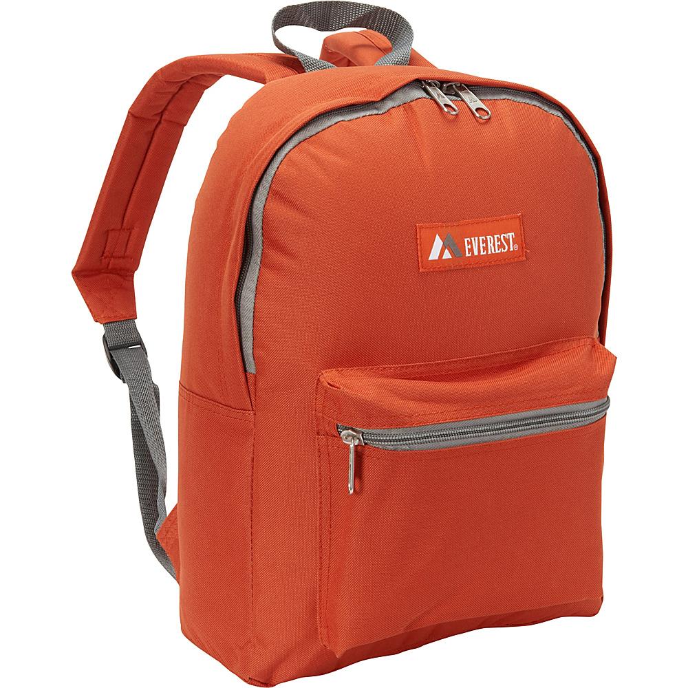 Everest Basic Backpack Rust Orange/Black - Everest Everyday Backpacks - Backpacks, Everyday Backpacks