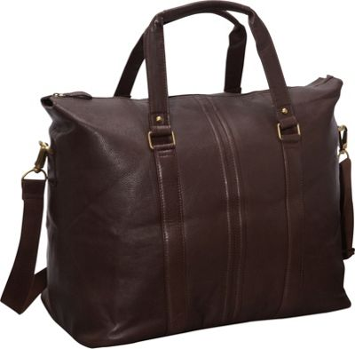 R & R Collections Weekender Bag BROWN - R & R Collections Luggage Totes and Satchels
