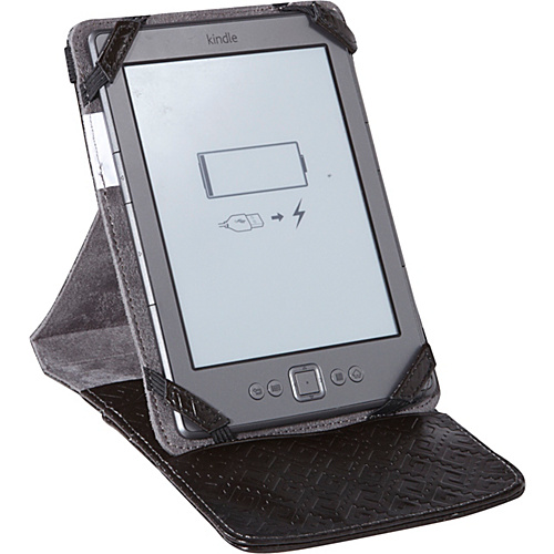 Sumdex CrossWork-T: Kindle, Kindle Touch and Kindle Paperwhite Folio & Stand Black Taiga - Sumdex Personal Electronic Cases