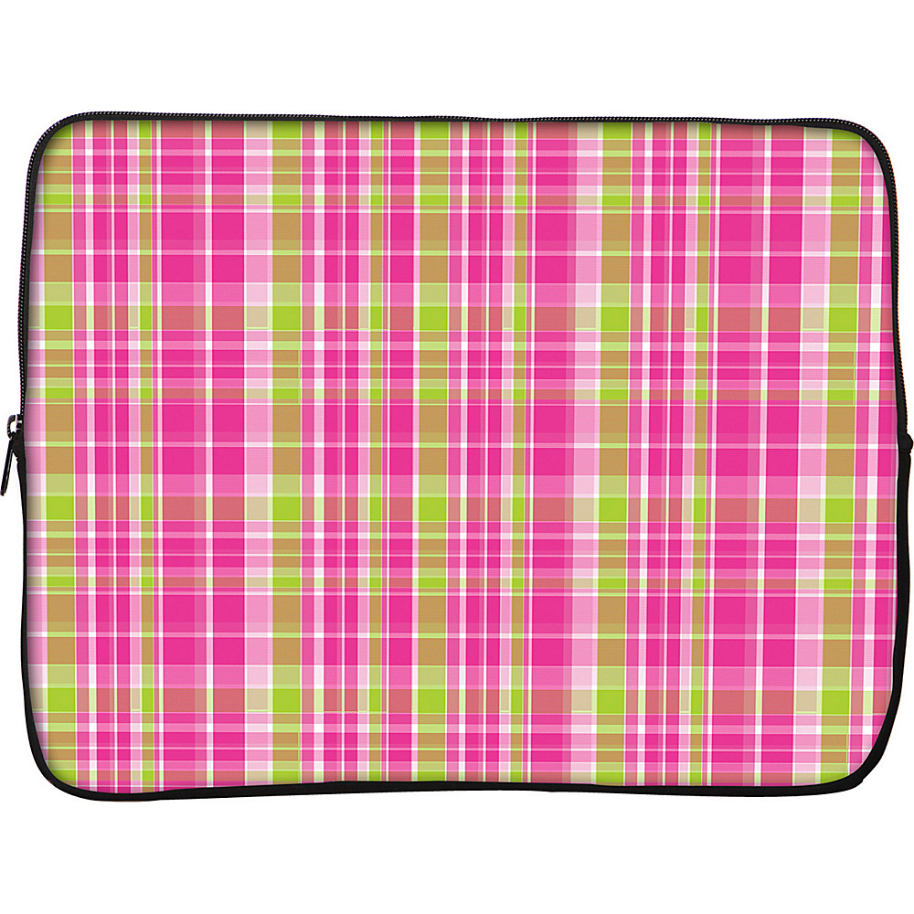 Designer Sleeves 17 Laptop Sleeve by Got Skins? Designer Sleeves Pink Green Plaid Designer Sleeves Electronic Cases