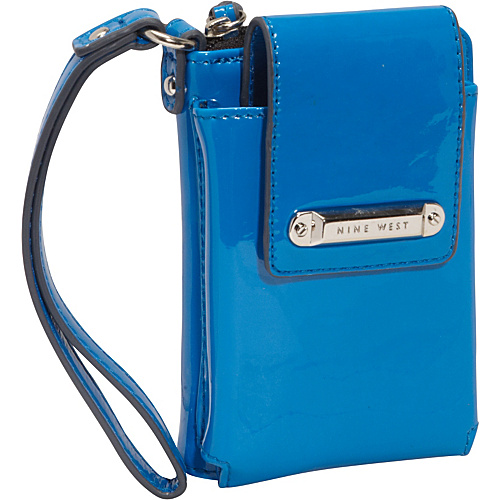 Nine West Handbags Day Glo Zip Tech Wristlet Electric Blue - Nine West Handbags Ladies Small Wallets