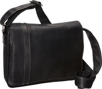 David King & Co. Deluxe Medium iPad Messenger with Inlay Black - David King & Co. Messenger Bags