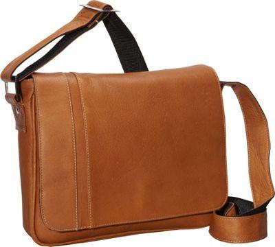 David King & Co. Deluxe Medium iPad Messenger with Inlay Tan - David King & Co. Messenger Bags