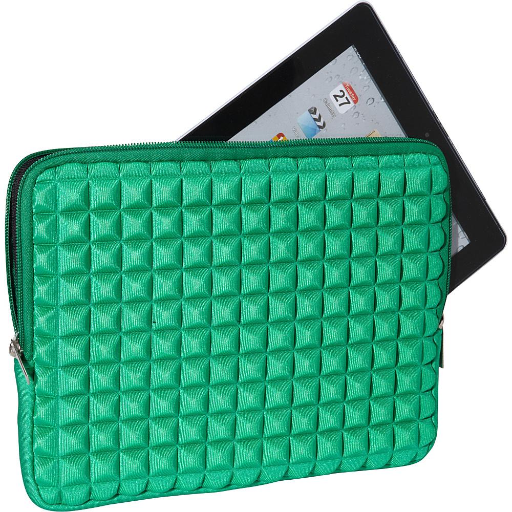 Melie Bianco Pyramid iPad Case Green - Melie Bianco Laptop Sleeves