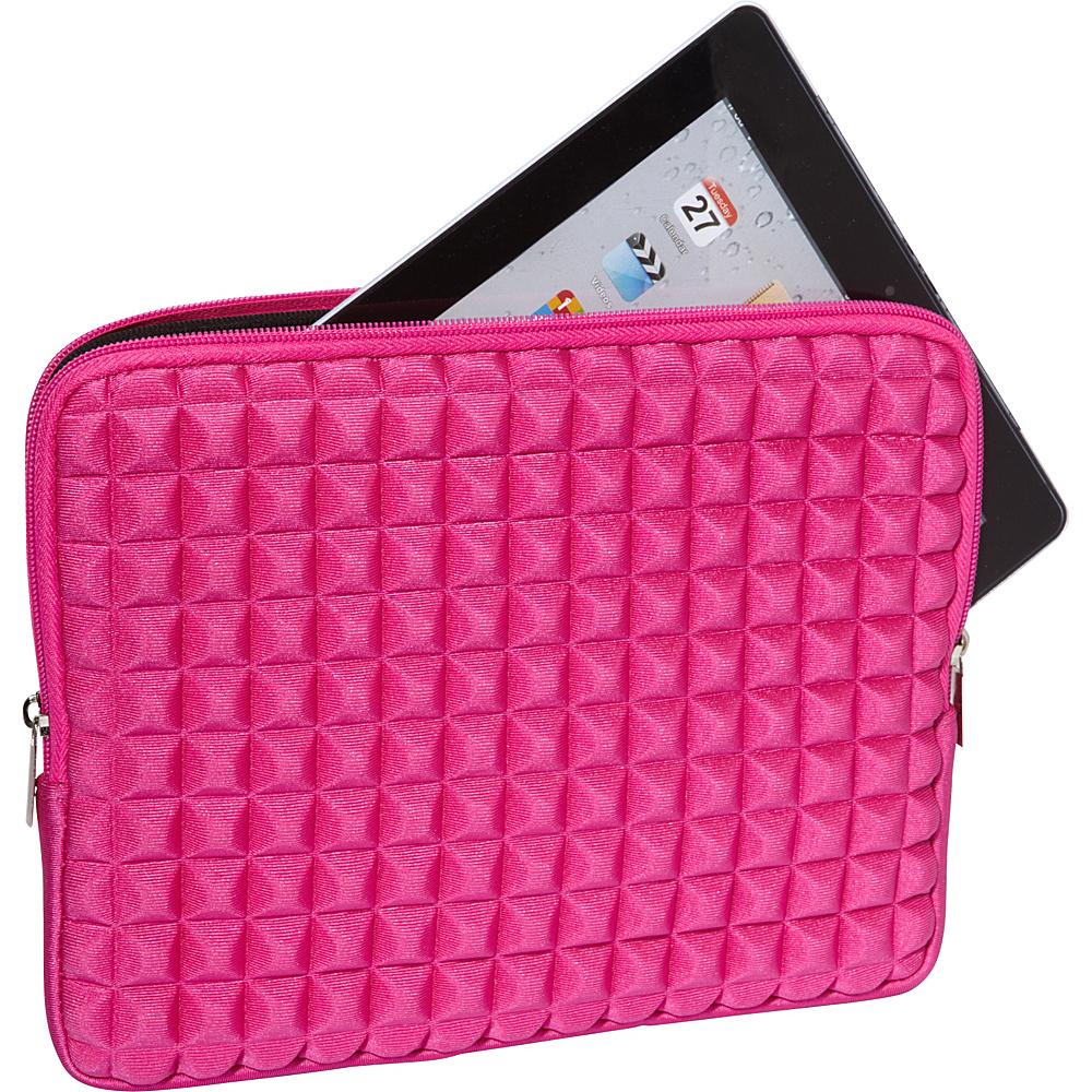 Melie Bianco Pyramid iPad Case Fuchsia - Melie Bianco Laptop Sleeves
