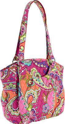 Vera Bradley Glenna Shoulder Bag Pink Swirls - Vera Bradley Fabric Handbags