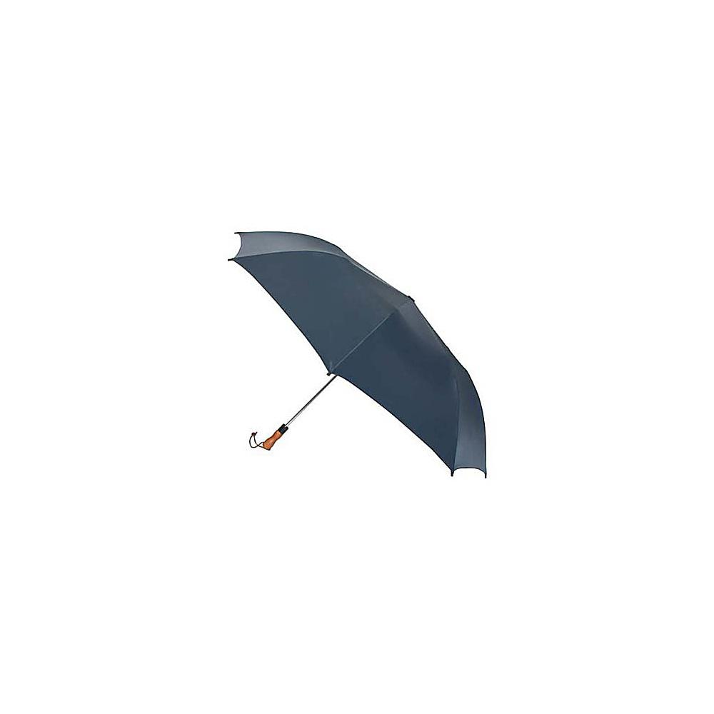 ShedRain Jumbo Auto Umbrella -Wood Handle - Navy - Travel Accessories, Umbrellas and Rain Gear