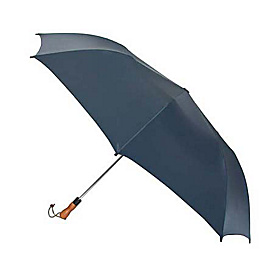 Jumbo Auto Umbrella - Wood Handle - Solid Colors Navy