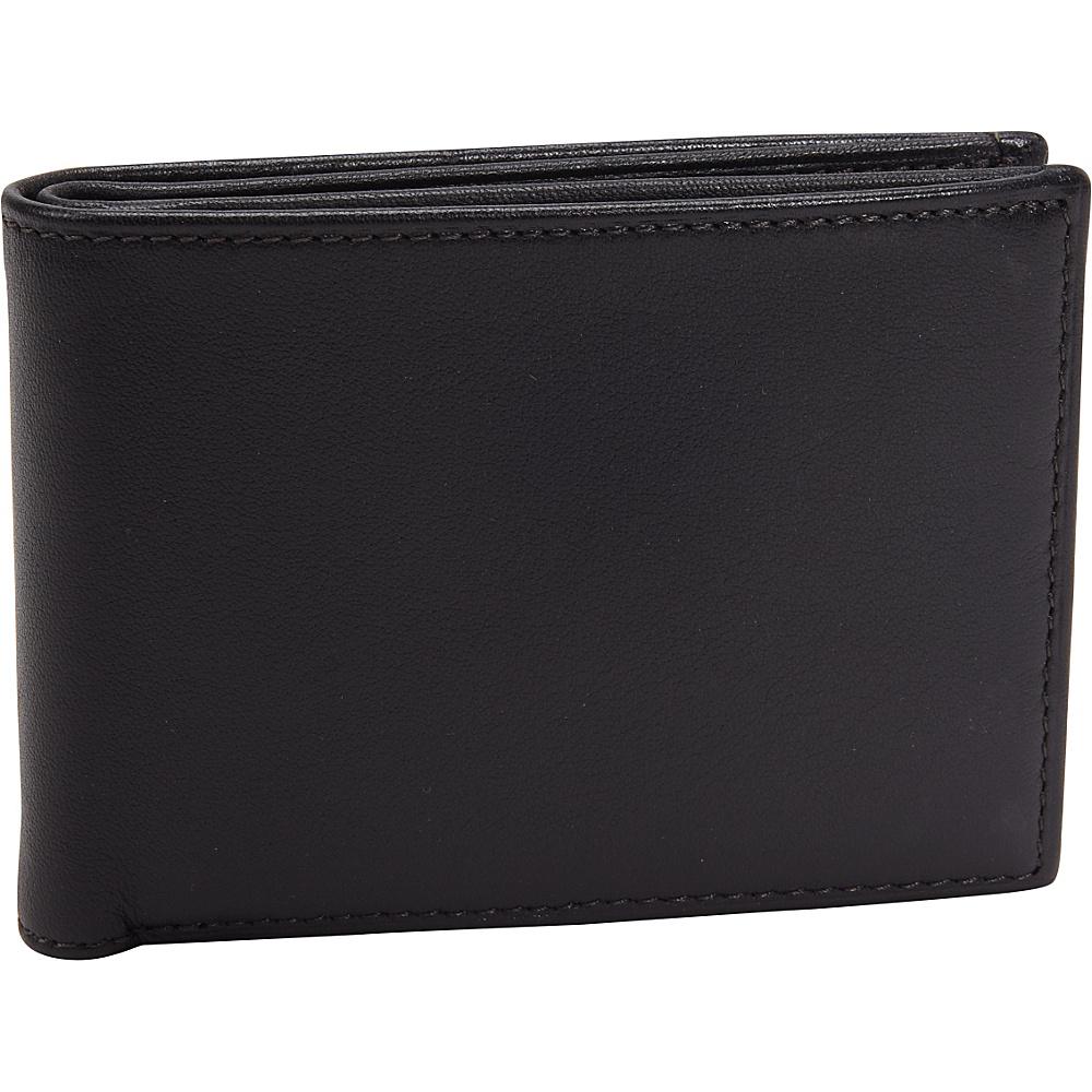 Bosca Nappa Leather Small Bifold Wallet Black - Bosca Men's Wallets