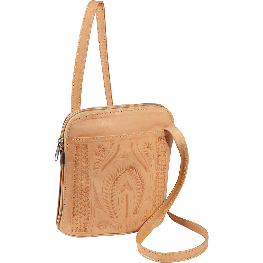 Ropin West Cross body bag Natural Ropin West Leather Handbags