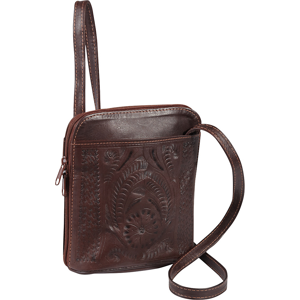 Ropin West Cross body bag Brown Ropin West Leather Handbags