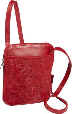 Ropin West Cross-body bag Red - Ropin West Leather Handbags