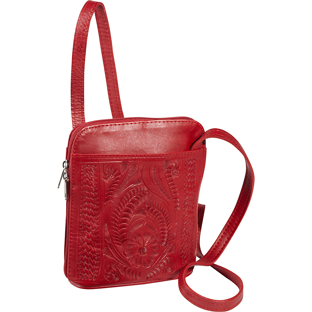 Ropin West Cross-body bag Red - Ropin West Leather Handbags